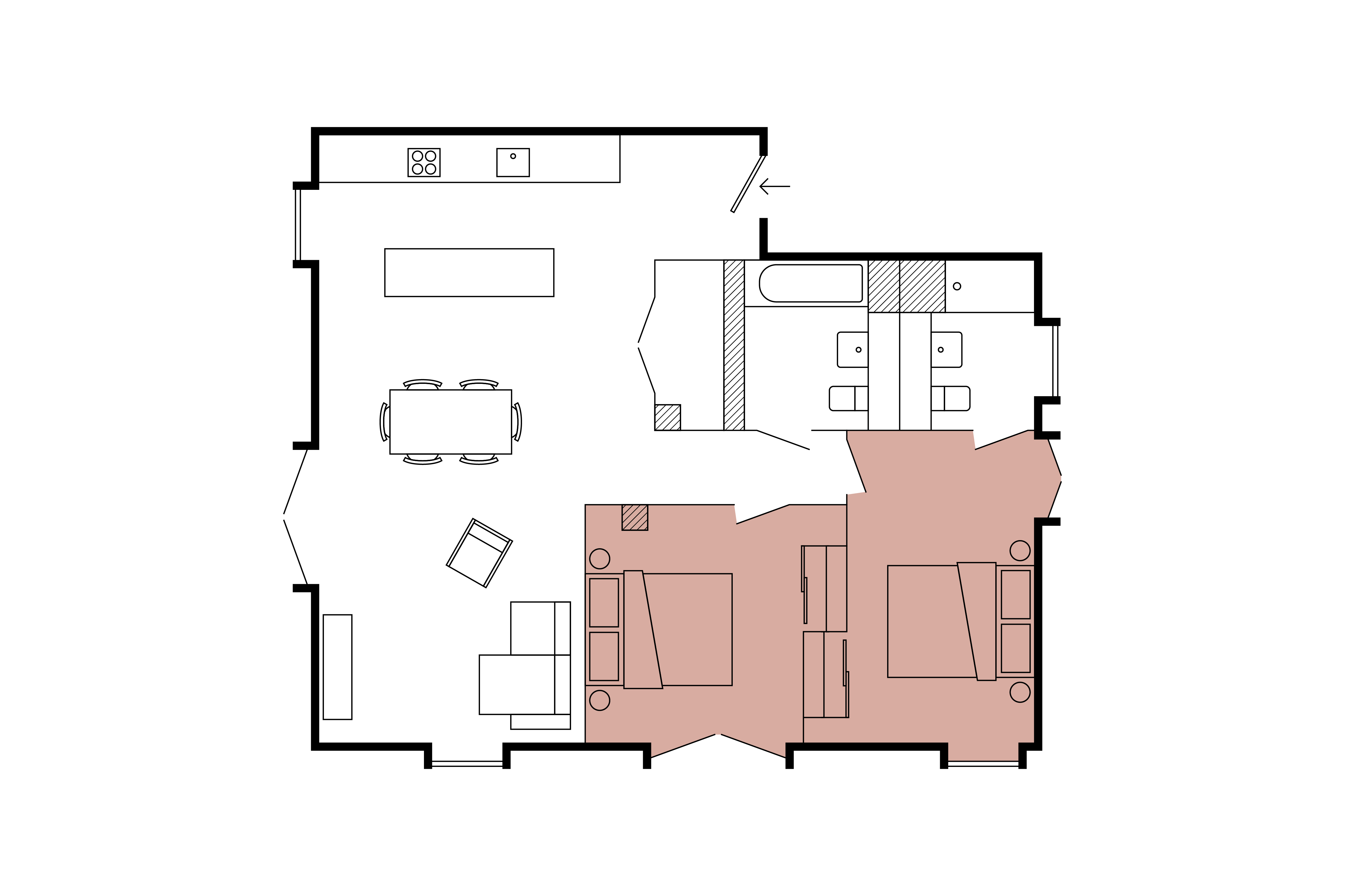 Floor plan for 2 Bed – South Block Dutch House
