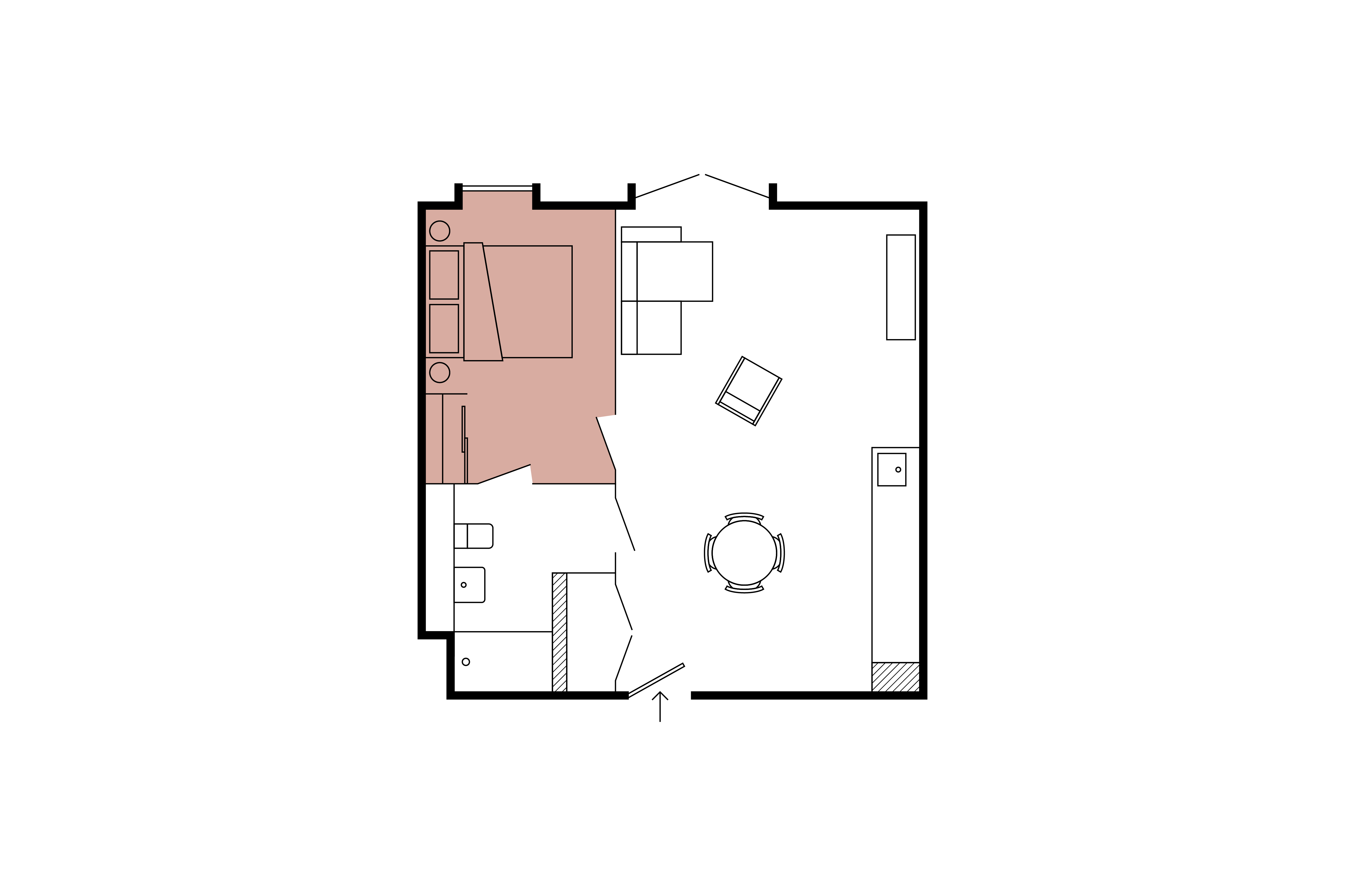 Floor plan for 1 Bed – North Block