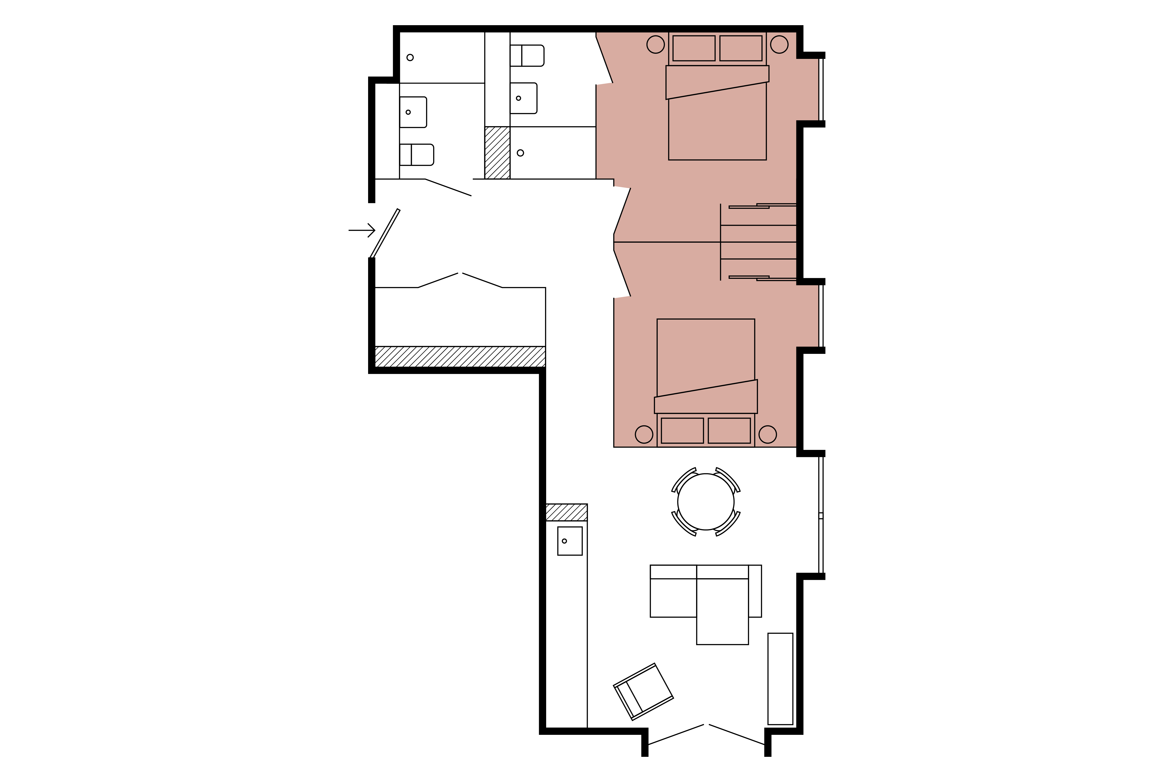 Floor plan for 2 Bed – South Block