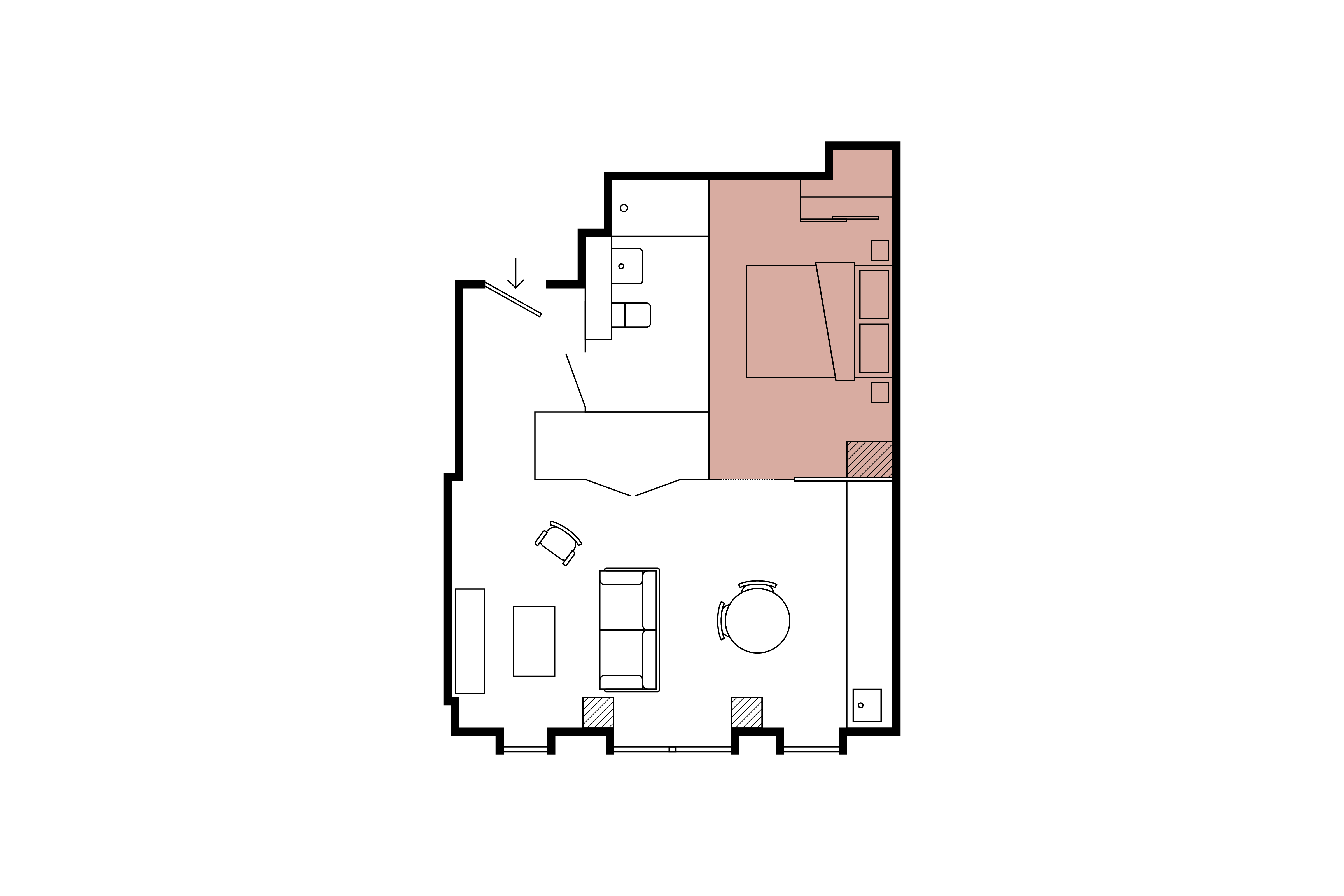 Floor plan for 1 Bed – The Stack