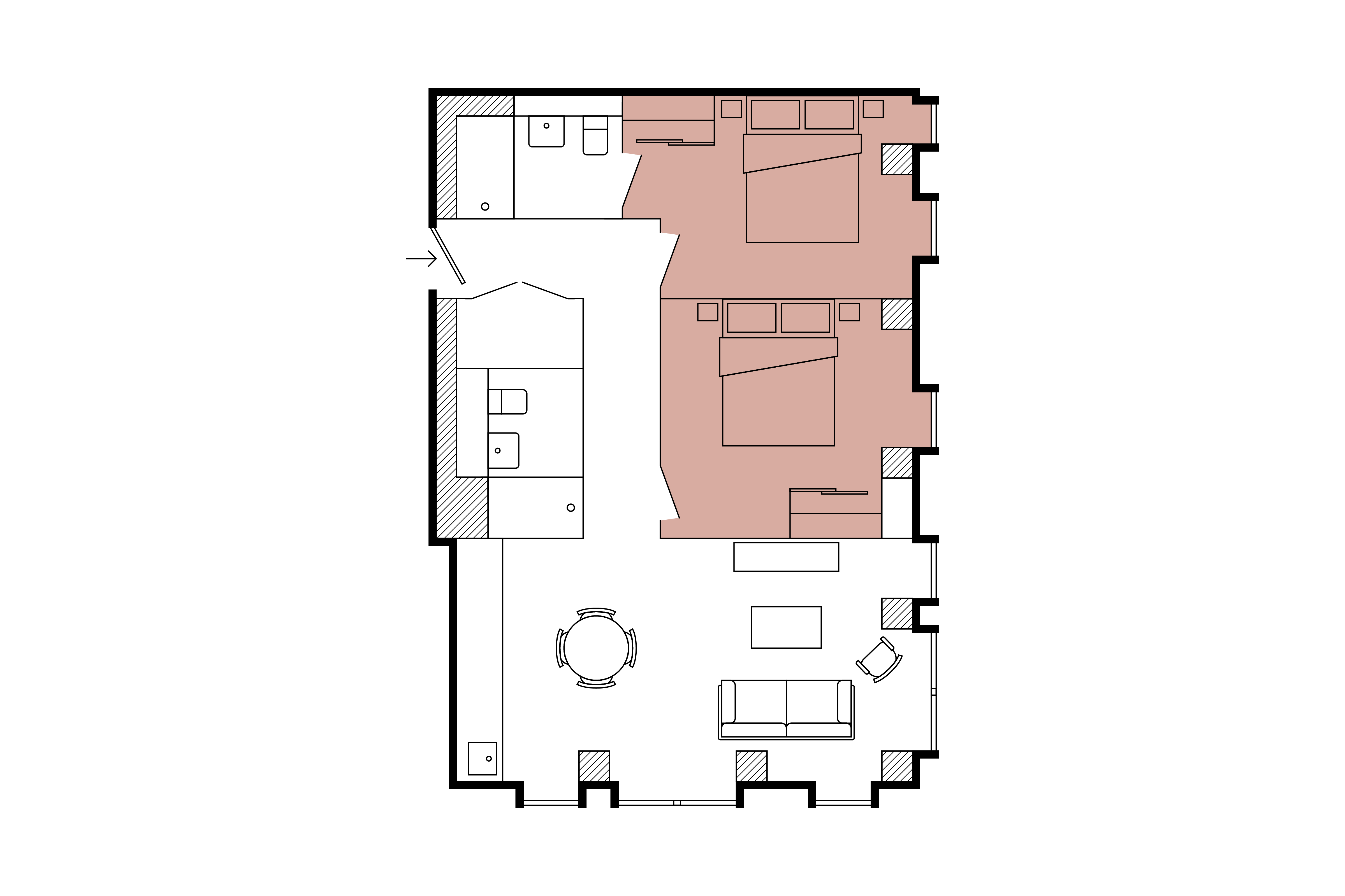 Floor plan for 2 Bed – The Stack