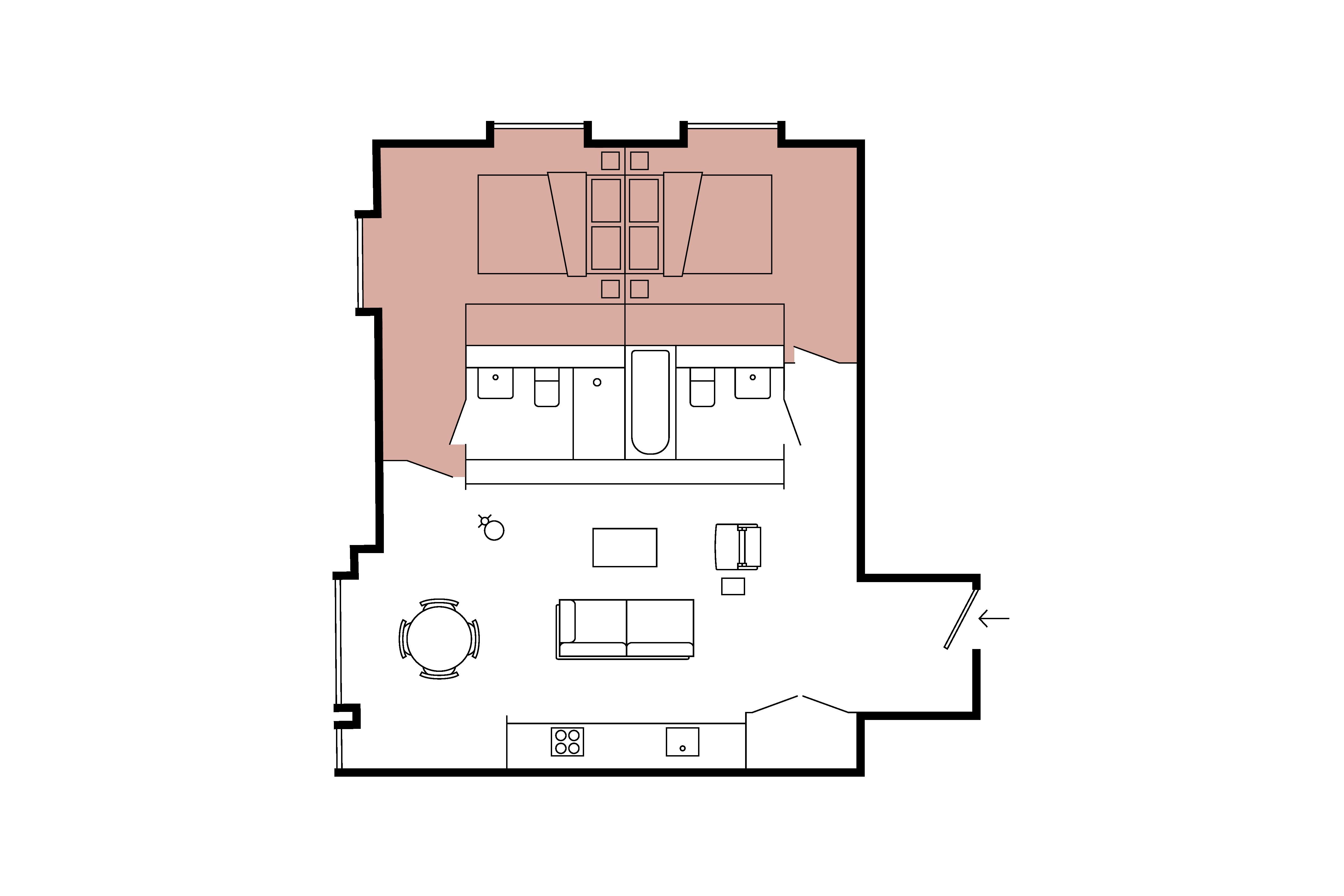 Floor plan for 2 Bed – Minshull Warehouse