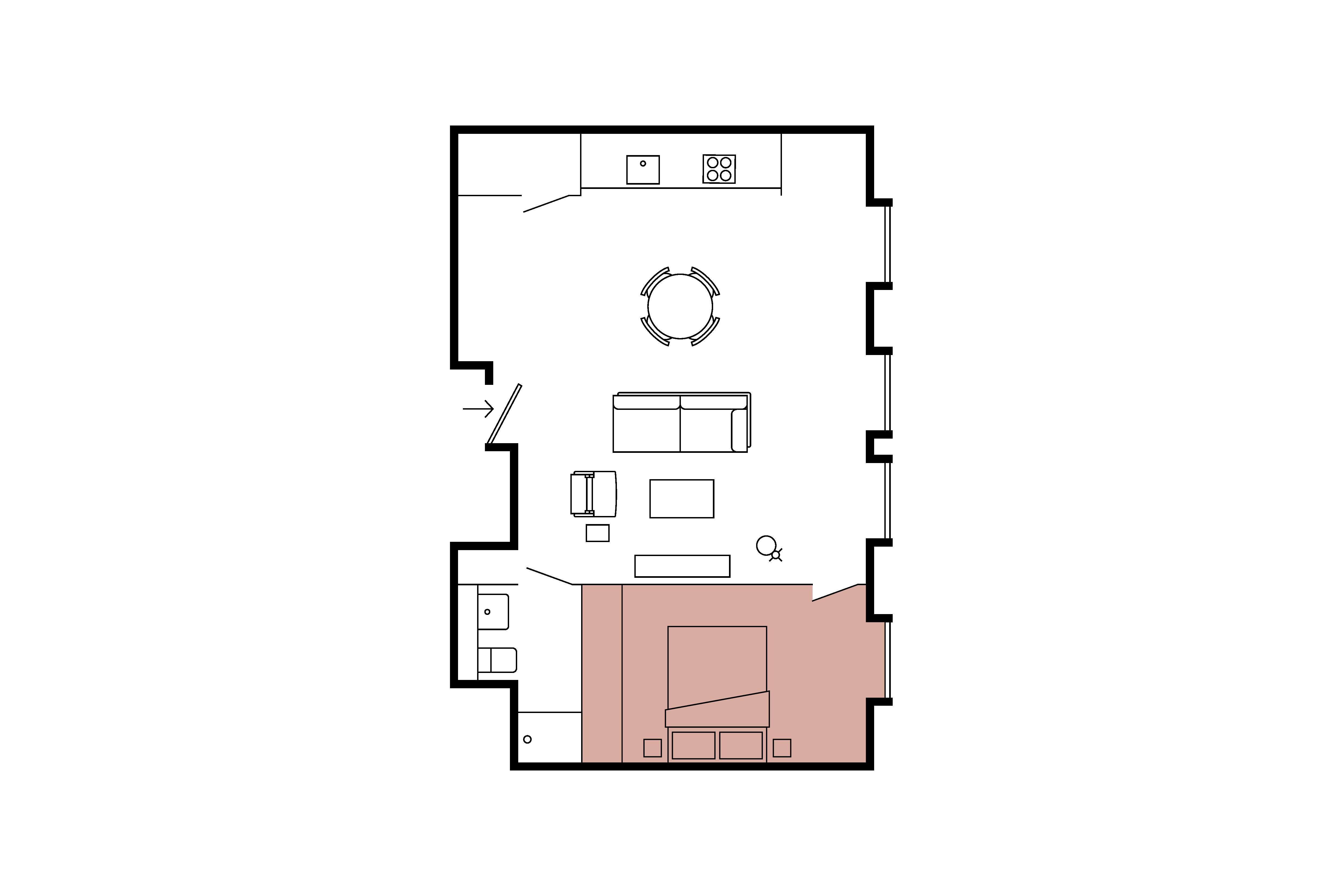 Floor plan for 1 Bed – Minshull Warehouse